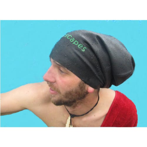 dreadscapes extra large locks braids waterproof silicone black swim cap