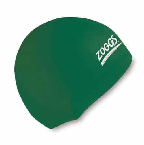 zoggs waterproof silicone swim cap green
